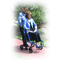 Duet Dual Function Transport Wheelchair Rollator Rolling Walker, Blue - Discount Homecare & Mobility Products
