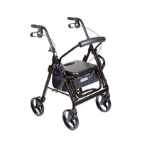 Duet Dual Function Transport Wheelchair Rollator Rolling Walker, Black - Discount Homecare & Mobility Products