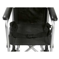 "Lightweight Transport Wheelchair, 17"" Seat, Silver - Discount Homecare & Mobility Products"