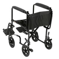 "Lightweight Transport Wheelchair, 19"" Seat, Black - Discount Homecare & Mobility Products"