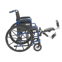 "Blue Streak Wheelchair with Flip Back Desk Arms, Elevating Leg Rests, 16"" Seat - Discount Homecare & Mobility Products"