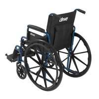 "Blue Streak Wheelchair with Flip Back Desk Arms, Swing Away Footrests, 18"" Seat - Discount Homecare & Mobility Products"