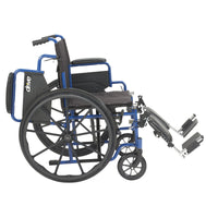 "Blue Streak Wheelchair with Flip Back Desk Arms, Elevating Leg Rests, 20"" Seat - Discount Homecare & Mobility Products"