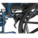 "Blue Streak Wheelchair with Flip Back Desk Arms, Swing Away Footrests, 20"" Seat - Discount Homecare & Mobility Products"