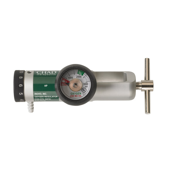 Chad CGA 870 Brass Core Oxygen Regulator, 0-15 LPM - Discount Homecare & Mobility Products