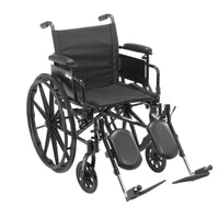 "Cruiser X4 Lightweight Dual Axle Wheelchair with Adjustable Detachable Arms, Desk Arms, Elevating Leg Rests, 18"" Seat - Discount Homecare & Mobility Products"