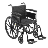 "Cruiser X4 Lightweight Dual Axle Wheelchair with Adjustable Detachable Arms, Full Arms, Swing Away Footrests, 18"" Seat - Discount Homecare & Mobility Products"