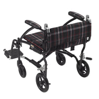 Fly Lite Ultra Lightweight Transport Wheelchair, Black - Discount Homecare & Mobility Products