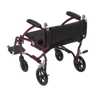 Fly Lite Ultra Lightweight Transport Wheelchair, Burgundy - Discount Homecare & Mobility Products