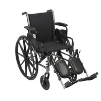 "Cruiser III Light Weight Wheelchair with Flip Back Removable Arms, Desk Arms, Elevating Leg Rests, 16"" Seat - Discount Homecare & Mobility Products"