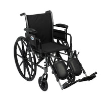 "Cruiser III Light Weight Wheelchair with Flip Back Removable Arms, Adjustable Height Desk Arms, Elevating Leg Rests, 18"" - Discount Homecare & Mobility Products"