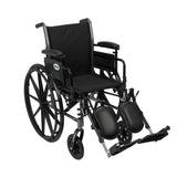 "Cruiser III Light Weight Wheelchair with Flip Back Removable Arms, Adjustable Height Desk Arms, Elevating Leg Rests, 20"" - Discount Homecare & Mobility Products"