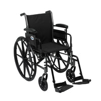 "Cruiser III Light Weight Wheelchair with Flip Back Removable Arms, Adjustable Height Desk Arms, Swing away Footrests, 20"" - Discount Homecare & Mobility Products"