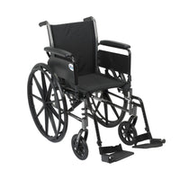 "Cruiser III Light Weight Wheelchair with Flip Back Removable Arms, Full Arms, Swing away Footrests, 20"" Seat - Discount Homecare & Mobility Products"