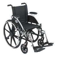 "Viper Wheelchair with Flip Back Removable Arms, Desk Arms, Swing away Footrests, 12"" Seat - Discount Homecare & Mobility Products"