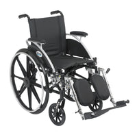 "Viper Wheelchair with Flip Back Removable Arms, Desk Arms, Elevating Leg Rests, 14"" Seat - Discount Homecare & Mobility Products"