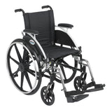 "Viper Wheelchair with Flip Back Removable Arms, Desk Arms, Swing away Footrests, 14"" Seat - Discount Homecare & Mobility Products"