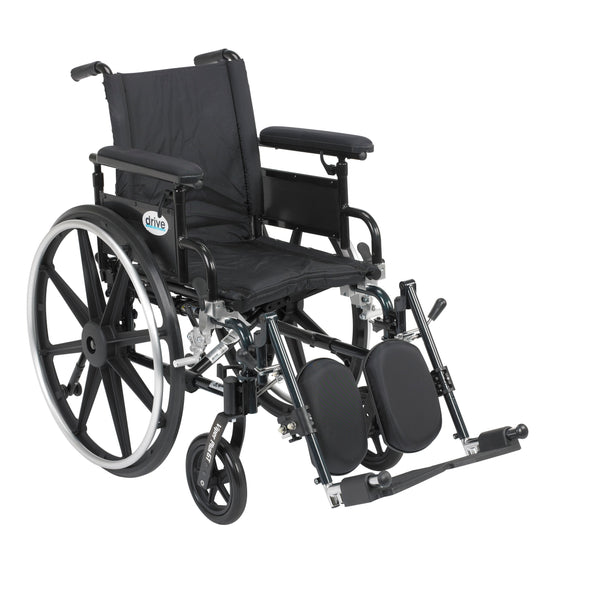 "Viper Plus GT Wheelchair with Flip Back Removable Adjustable Full Arms, Elevating Leg Rests, 16"" Seat - Discount Homecare & Mobility Products"