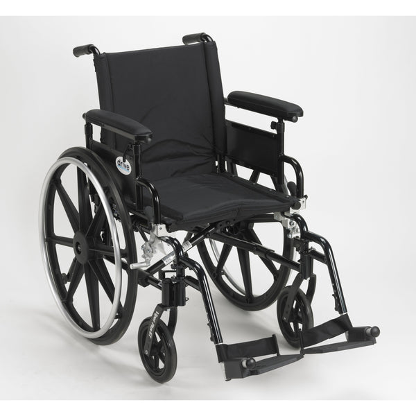 "Viper Plus GT Wheelchair with Flip Back Removable Adjustable Full Arms, Swing away Footrests, 16"" Seat - Discount Homecare & Mobility Products"