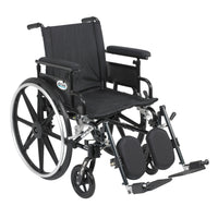 "Viper Plus GT Wheelchair with Flip Back Removable Adjustable Full Arms, Elevating Leg Rests, 18"" Seat - Discount Homecare & Mobility Products"