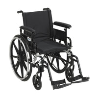"Viper Plus GT Wheelchair with Flip Back Removable Adjustable Full Arms, Swing away Footrests, 18"" Seat - Discount Homecare & Mobility Products"