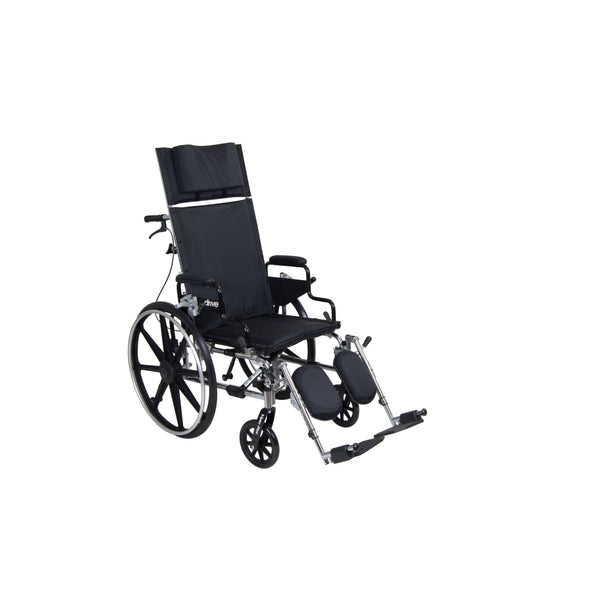 "Viper Plus GT Full Reclining Wheelchair, Detachable Desk Arms, 18"" Seat - Discount Homecare & Mobility Products"