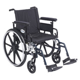"Viper Plus GT Wheelchair with Flip Back Removable Adjustable Full Arms, Swing away Footrests, 20"" Seat - Discount Homecare & Mobility Products"