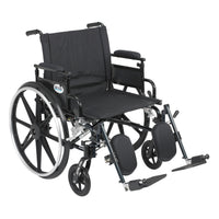 "Viper Plus GT Wheelchair with Flip Back Removable Adjustable Desk Arms, Elevating Leg Rests, 22"" Seat - Discount Homecare & Mobility Products"