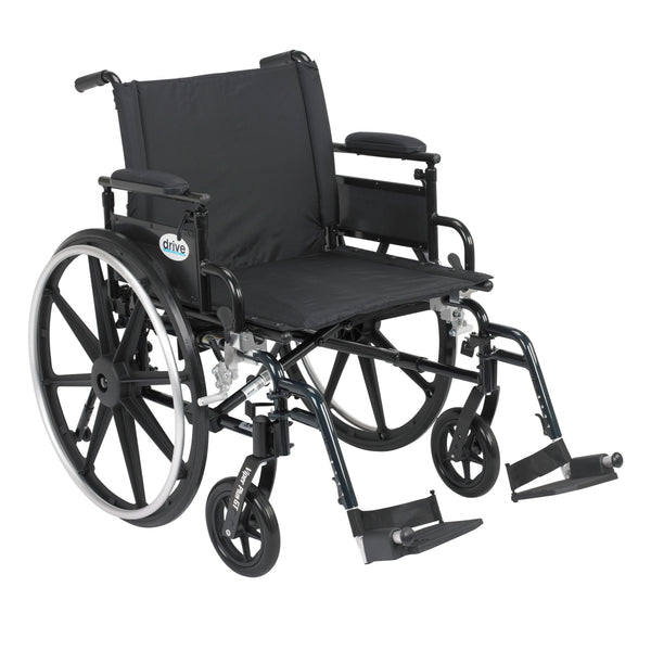 "Viper Plus GT Wheelchair with Flip Back Removable Adjustable Desk Arms, Swing away Footrests, 22"" Seat - Discount Homecare & Mobility Products"