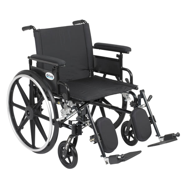"Viper Plus GT Wheelchair with Flip Back Removable Adjustable Full Arms, Elevating Leg Rests, 22"" Seat - Discount Homecare & Mobility Products"