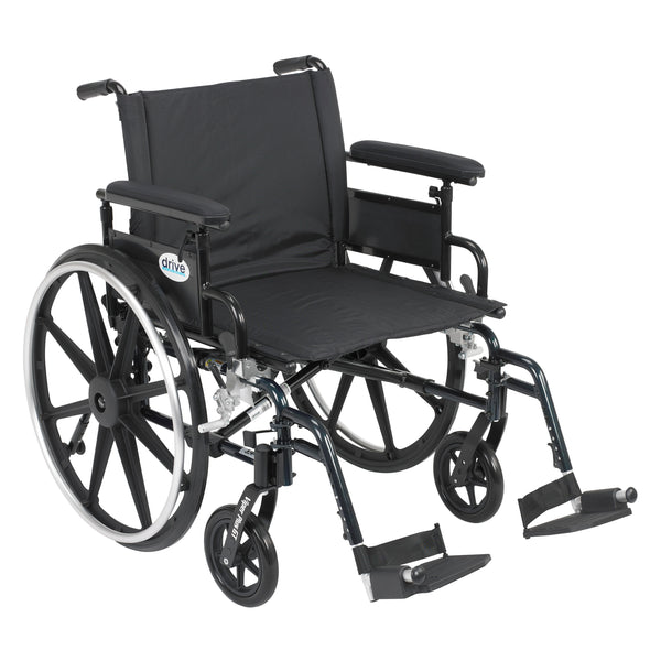 "Viper Plus GT Wheelchair with Flip Back Removable Adjustable Full Arms, Swing away Footrests, 22"" Seat - Discount Homecare & Mobility Products"