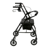 "Rollator Rolling Walker with 6"" Wheels, Fold Up Removable Back Support and Padded Seat, Black - Discount Homecare & Mobility Products"