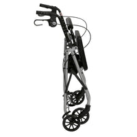 "Rollator Rolling Walker with 6"" Wheels, Fold Up Removable Back Support and Padded Seat, Silver - Discount Homecare & Mobility Products"