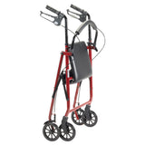 "Rollator Rolling Walker with 6"" Wheels, Red - Discount Homecare & Mobility Products"