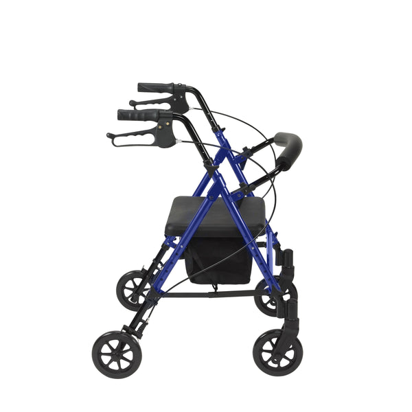 "Adjustable Height Rollator Rolling Walker with 6"" Wheels, Blue - Discount Homecare & Mobility Products"
