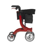 Nitro Euro Style Rollator Rolling Walker, Red - Discount Homecare & Mobility Products