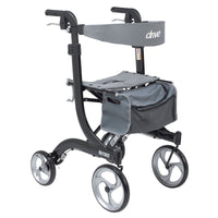 Nitro Euro Style Rollator Rolling Walker, Tall, Black - Discount Homecare & Mobility Products