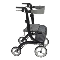Nitro Euro Style Rollator Rolling Walker, Black - Discount Homecare & Mobility Products
