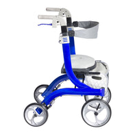 Nitro DLX Euro Style Rollator Rolling Walker, Sleek Blue - Discount Homecare & Mobility Products