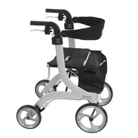 Nitro Euro Style Rollator Rolling Walker, White - Discount Homecare & Mobility Products