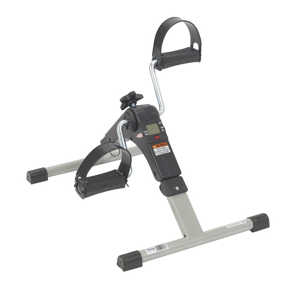 Folding Exercise Peddler with Electronic Display, Black - Discount Homecare & Mobility Products
