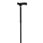 Lightweight Adjustable Folding Cane with T Handle, Black - Discount Homecare & Mobility Products