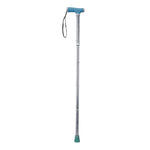 Folding Cane with Glow Gel Grip Handle, Light Blue - Discount Homecare & Mobility Products