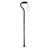 Foam Grip Offset Handle Walking Cane, Black - Discount Homecare & Mobility Products