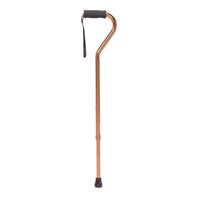 Foam Grip Offset Handle Walking Cane, Bronze - Discount Homecare & Mobility Products