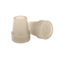 "Glow In The Dark Cane Tip, 3/4"", Cream, Pair - Discount Homecare & Mobility Products"