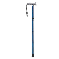 Adjustable Lightweight Folding Cane with Gel Hand Grip, Blue Crackle - Discount Homecare & Mobility Products