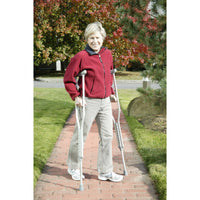 Walking Crutches with Underarm Pad and Handgrip, Adult, 1 Pair - Discount Homecare & Mobility Products