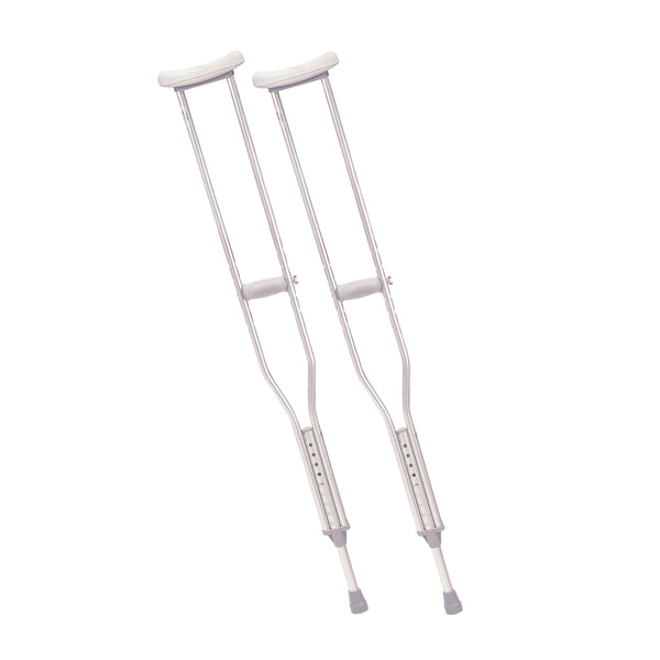 Walking Crutches with Underarm Pad and Handgrip, Tall Adult, 1 Pair - Discount Homecare & Mobility Products