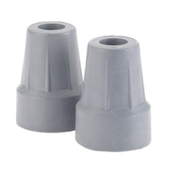 "Forearm Crutch Tip 5/8"", Gray, Pair, Retail Box - Discount Homecare & Mobility Products"